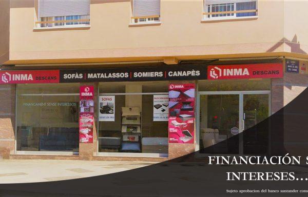 Financiación sin intereses a 12 meses.